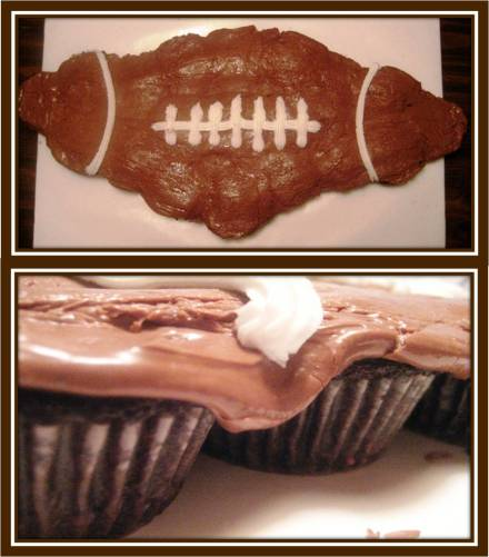 Superbowl Pull-Apart Cupcake Football