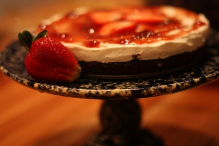 Strawberry Brownie Cheesecake6